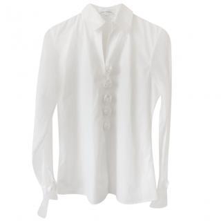 Anne Fontaine Chiffon Rose Applique Shirt