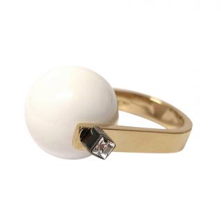 may mOma Gea White Sphere Ring