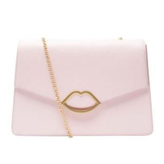 Lulu Guinness Pale Pink Lips Shoulder Bag