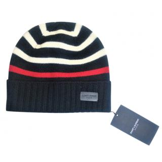 Saint Laurent Striped Wool Beanie