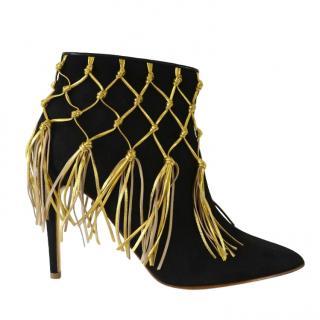 Rupert Sanderson Black Suede Charisse Ankle Boots