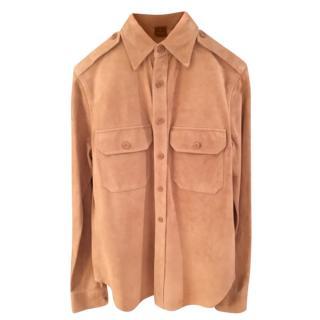 Ralph Lauren Black Label Beige Suede Shirt