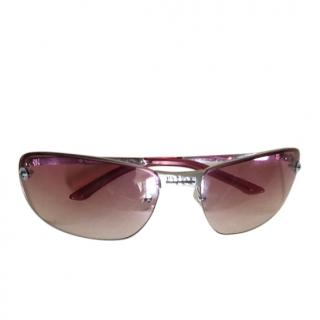 Dior Vintage Pink Gradient Rectangular Sunglasses