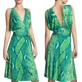 Diane Von Furstenberg Python Print Suron Dress