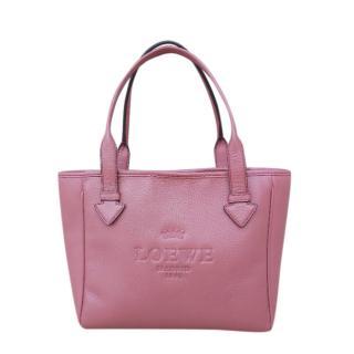 Loewe Pink Leather Top Handle Bag