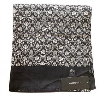 Dolce & Gabbana Men's Cashmere Baroque Scarf