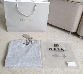 N.Peal fumo grey long-sleeve cashmere knit jumper