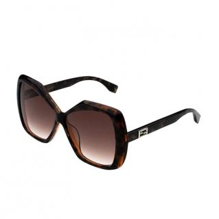 Fendi Havana brown & gold sunglasses