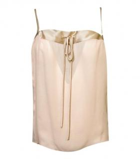 Tom Ford pink silk bow detail sleeveless top