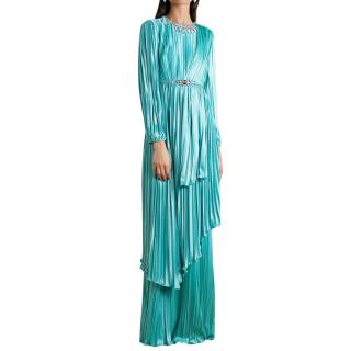 Gucci Resort Collection Pleated Crystal Embellished Gown