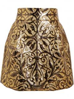 Dolce & Gabbana Metallic Embossed Brocade Skirt