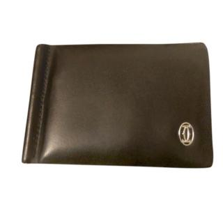 Cartier black leather 6 card wallet