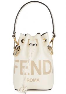 Fendi Mon Tr�sor mini debossed leather bucket bag