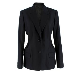 Helmut Lang Black Cut-out Blazer