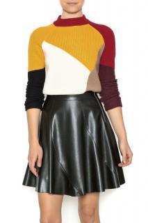 Carven Colourblock Merino Wool Jumper