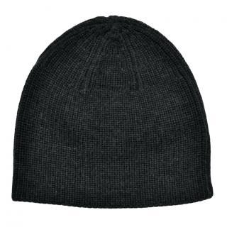 Ralph Lauren black ribbed knitted wool beanie hat