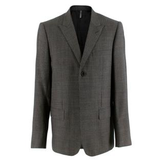 Dior Grey Wool Houndstooth Single Breasted Jacket