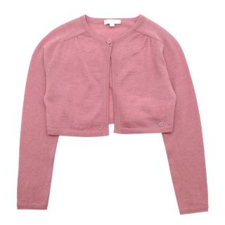 Gucci Kids Rose Pink Wool Knitted Cardigan