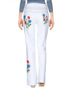 Sonia Rykiel white denim floral embroidered jeans