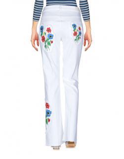 Sonia Rykiel white denim floral embroidered jeans