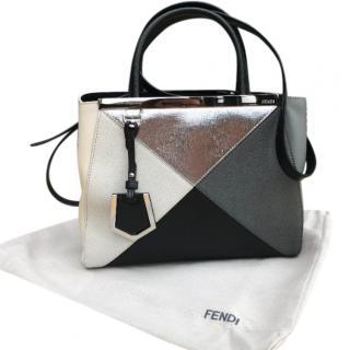 Fendi 2 Jours Mini Tote multicolured leather top handle bag