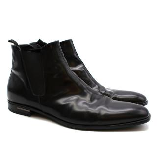Prada Men's Black Leather Boots