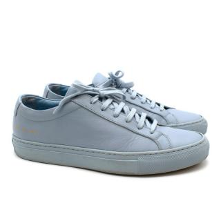 Common Projects Pale Blue Leather Low-Top Trainers