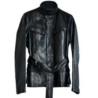 Ralph Lauren Black Label black leather jacket