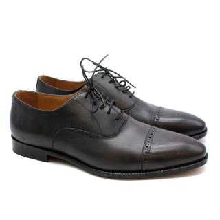 Balmain Black Leather Men's Derbies