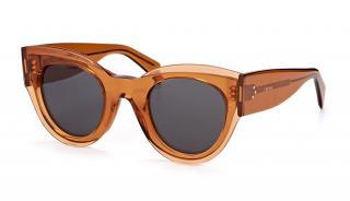 Celine CL41447/S brown acetate sunglasses