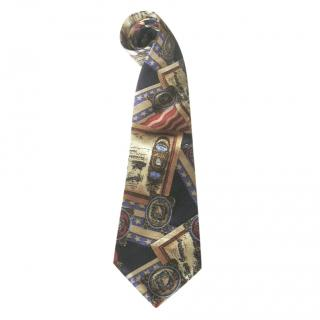 Daniel Hechter star & stripe flag silk tie