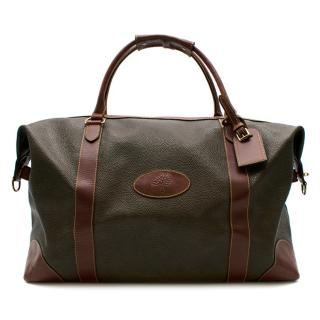 Mulberry Brown Grained Coated Canvas Classic Weekender