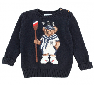 Ralph Lauren Baby Navy Teddy Knit Jumper