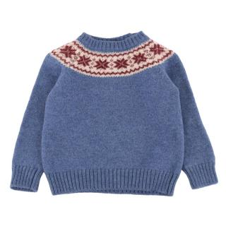 Pepa London Blue Knitted Wool Jumper