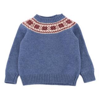 Pepa London Blue Knitted Wool Jumper