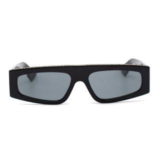 Dior Black Crystal Edged DiorPower Sunglasses