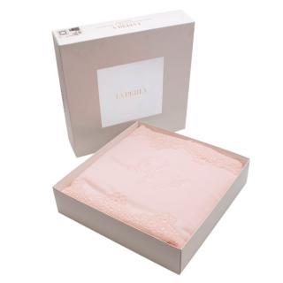 La Perla Pink Embroidered Lace Detail Blanket