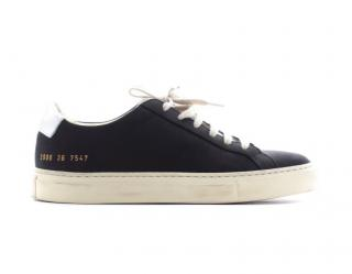 Common Projects Retro Low black & silver trainers