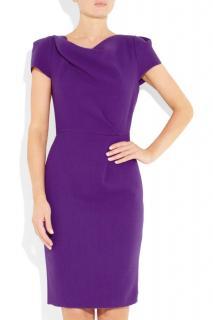 Roksanda Illncic Ayden magenta short sleeve knee-length dress