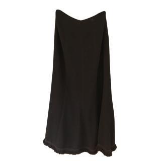Chanel long tweed black skirt