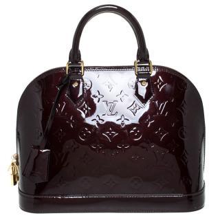 Louis Vuitton Alma PM patent merlot monogram Vernis handbag