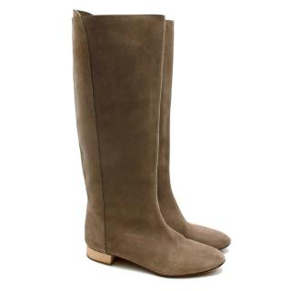 Chloe Taupe Suede Knee Boots