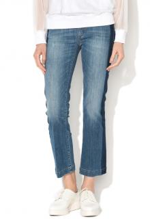 Sportmax cropped mid-rise blue jeans