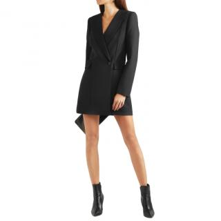 Dion Lee Black Crepe Mini Blazer Dress