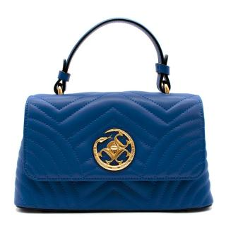 Pierre Cardin Electric Blue Small Quilted Handle Bag