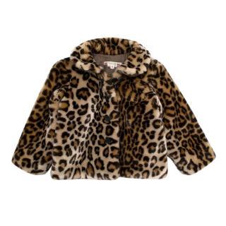 Bonpoint Leopard Faux-Fur Brown Jacket