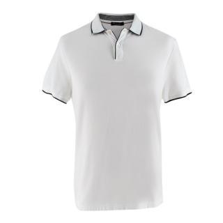 Loro Piana White Soft Cotton Polo Top