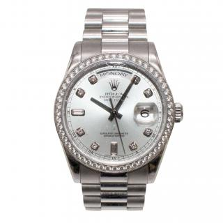 Rolex Glacier Blue Diamond Dial Platinum President Day-Date 36