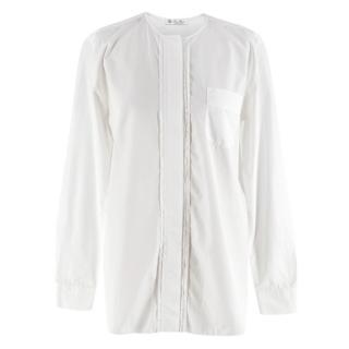 Loro Piana White Cotton Long-Sleeve Tunic