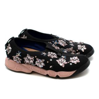 Dior Black Technical Embellished Fusion Sneakers